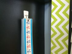 """Brown Bag Teacher facebook pic: """"I laminate them, punch a hole at the top, and hang them on a command hook for easy access."""" 1-30 number lines"""