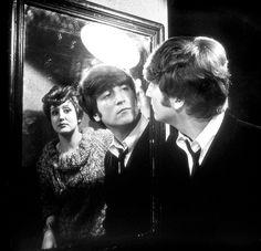 John Lennon in a hard days night movie