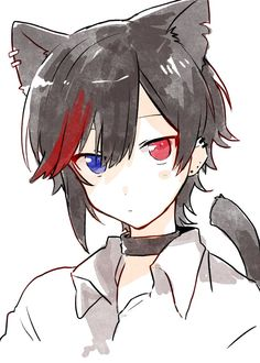 expression for Yossei Anime Neko, Cute Anime Chibi, Cute Anime Guys, Anime Kawaii, Handsome Anime Guys, Neko Boy, Wolf Boy Anime, Persona Anime, Estilo Anime