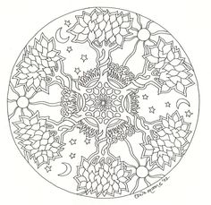 Tree Mandala Coloring Pages