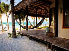 Ahau Tulum beach side cabanas. Tulum, Mexico.