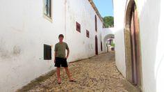 Harri exploring the cobbled streets of São Bartolomeu de Messines