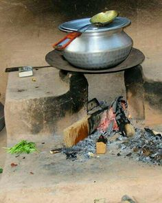 The food cooked on these has its own special flavor, Punjab, India