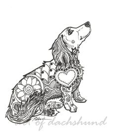 "Dachshund Zentangle ""DachsZen 2"""