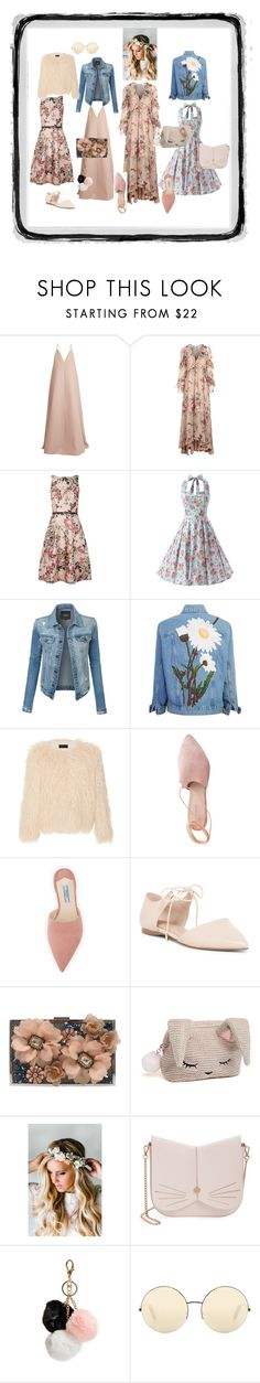 Мэл by veras1 on Polyvore featuring мода, Ted Baker, Zimmermann, Valentino, Nili Lotan, LE3NO, Summit, Prada, ALDO and COS