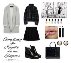 """Lawyer"" by faigylefkowitz ❤ liked on Polyvore featuring Zara, Chicwish, Yves Saint Laurent, Alkemie, Tom Ford, Deborah Lippmann, Miu Miu and WithChic"