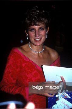 "December 17 1991 Diana, President,  Royal Marsden Hospital, attend the ""Joy to the World""  Christmas Carol Concert at the Royal Albert Hall, London SW7"