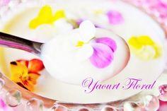 Yaourt floral de Pâques, Easter floral yogurt – recette de fleur