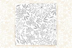 """12""""x12"""" Hand Drawn Leaves  by sally123 on @creativemarket"""