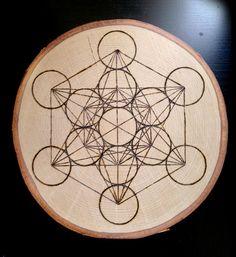 Sacred Geometry Art / Crystal Grid  wood by NaturaObscuraArt, $85.00