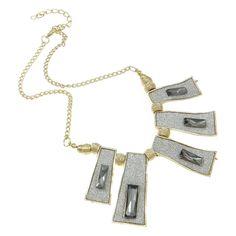 Vintage Style Glitz Gold Tone Rhinestone Sparkle Necklace $20.00