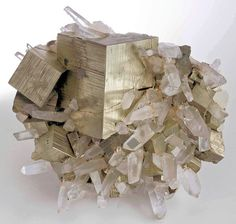 Pyrite with Quartz - Wow!