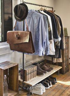 armadio guardaroba maschile