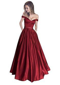 Bainjinbai Lang A-Line Off Shoulder Abendkleider Brautjungfernkleider BallKleider Festkleider Black UK06: Amazon.de: Bekleidung