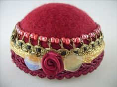 Flapper Hat Style Pin Cushion Jewelry Stand by stbthreadworks, $20.00
