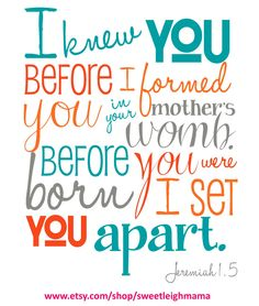 bible verse for i knew you in the womb picture | knew you before i formed you in your mother s womb psalm 127 3 bible ...