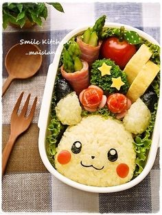Exactly Alike! Pokémon Pikachu Kyaraben Bento Lunch