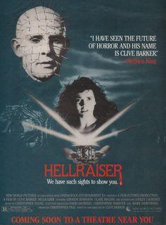1987 one-sheet Clive Barker's Hellraiser