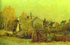 Sisley, Alfred - Frost in Louveciennes - Impressionism - Landscape - Oil on canvas