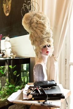 The eccentric hairstylist and painter brings T into his workspace-meets-cabinet-of-curiosities.