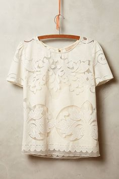 Lace Opacity Tee - anthropologie.com