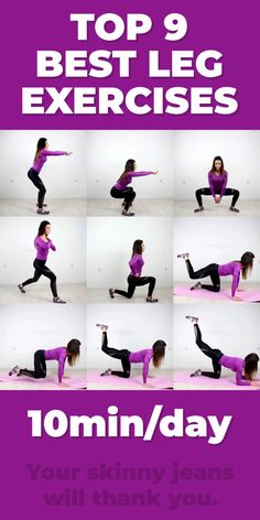 Top 9 Best Leg Exercises Tired of the same old squats and lunges in your leg workout? We totally get it. The next time you want to tone your lower half, try these The post Top 9 Best Leg Exercises appeared first on Welcome! Best Leg Workout, Leg Workout At Home, Gym Workout Tips, Fitness Workout For Women, Body Fitness, Workout Videos, At Home Workouts, Workout Routines, Skinny Leg Workouts