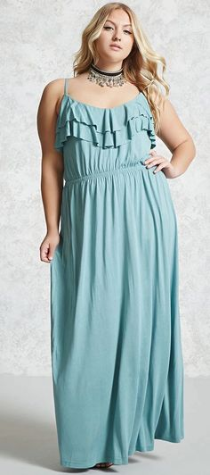 Plus Size Ruffled Maxi Dress