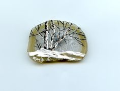 SOLD-HAND PAINTED MAGNET Agate slice miniature by OriginalSandMore