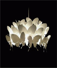 White butterfly pendant lamp
