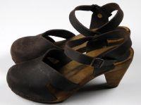 sanita wood ulrika cone sandal antique brown