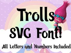 Trolls Font SVG | Trolls Movie Font SVG | Trolls Complete Alphabet Font SVG | Trolls Font | Instant Download| Cricut Silhouette svg cut file You will receive the following files: 2 SVG files (Capital Letters, Lowercase Letters and Numbers/Punctuation). 3 PNG files. The letters are listed separately in each SVG file! This can be used with the Cricut Explore & Silhouette Cameo, and other cutting machines. Buyer's must check their own software to determine compatibility *befo...