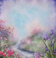 Jonny Petros Painting Path Flowers Blue Sky