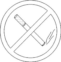 No Smoking Sign Coloring Pages – Coloring for every day Red Ribbon Week, Stencils Online, Free Printable Coloring Pages, Coloring Books, I Am Awesome, Clip Art, Printables, Letters, Smoke