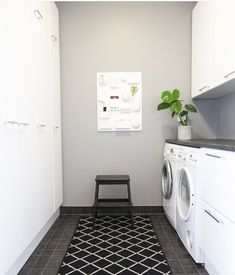 Modern Laundry Rooms, Laundry In Bathroom, Laundry Room Organization, Laundry Room Design, Scandinavian Interior Design, Scandinavian Home, Home Board, Nordic Home, Minimalist Home