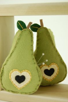 perfect pear pincushion by pinpinn on Etsy.