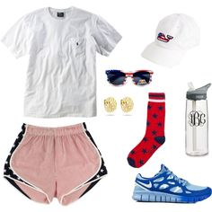 4th of July 5K by seersuckerandsequins on Polyvore featuring Ralph Lauren, NIKE and CamelBak