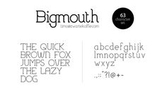 Bigmouth Font by Timo Kuilder, via Behance