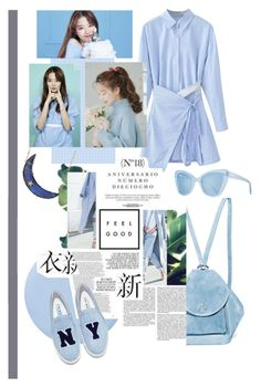 """Baby Blues"" by arissaann on Polyvore featuring WithChic, Deborah Lippmann, Joshua's, Andrea Fohrman, MANU Atelier and Prism"