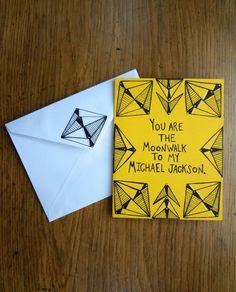 Michael Jackson Card by PeanutsForLaura on Etsy
