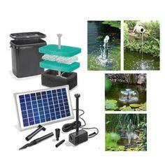 Kit pompe solaire bassin Napoli avec filtre