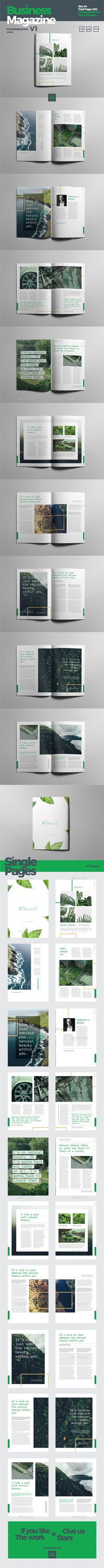 Magazine by westsidevectors 20 Pages Modern Magazine is an amazing magazine template with variation layout for mix and match page. This is for publication mag