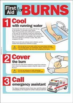 first aid for burns - Gesundheit + Wasser + Med - Health First Aid For Burns, First Aid For Kids, Basic First Aid, Burn First Aid, Treating Burns First Aid, Survival Prepping, Emergency Preparedness, Survival Skills, Survival Videos