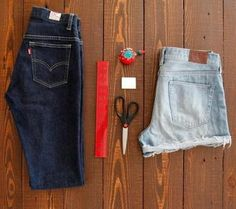 DIY Shorts - How to make 3 cute cut-off shorts