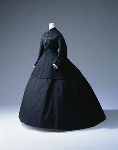 Mourning Dress  1865  The Kyoto Costume Institute