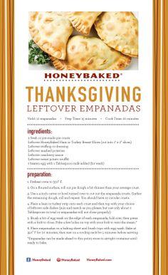 HoneyBaked Thanksgiving Leftover Empanadas #HoneyBaked #Ham #TurkeyBreast #Recipe