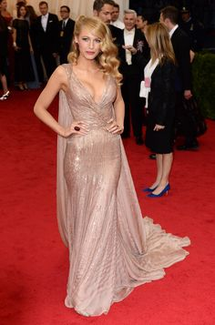 Blake Lively in Gucci at the 2014 Met Gala; Once again, 1 of my fashion icons. She looks beyond amazing! So elegant & classic!