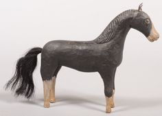 Folk Art Carved Wood Horse, Peter Brubaker http://www.liveauctioneers.com/item/11366886_folk-art-carved-wood-horse-in-the-style-of-peter-b