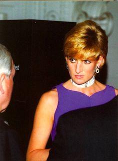 Princess Diana wearing the colors...Royal Purple