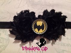 Batman Super Hero Headband for Newborns, Baby girls, Toddler, Kids, Teens, Adult Women - Ready to ship - Necklace sets available also
