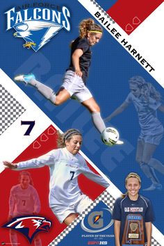 We had the privilege of designing a custom soccer banner for Bailee Harnett, the 2012 Gatorade Girls Soccer Player of the Year.  The custom soccer banner features our Diamond Slant design with photos from Bailee's career at Oak Mountain High School and at Air Force.